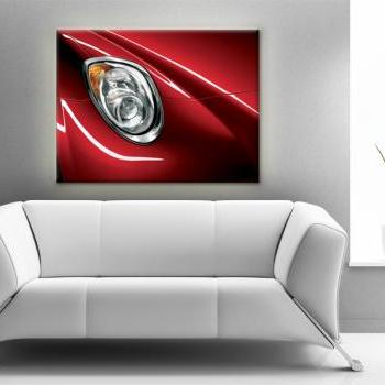 15x11 Digital printed Canvas red Alfa Romeo to your wall, Sport car lamp (size: 15x11 inch plus border).